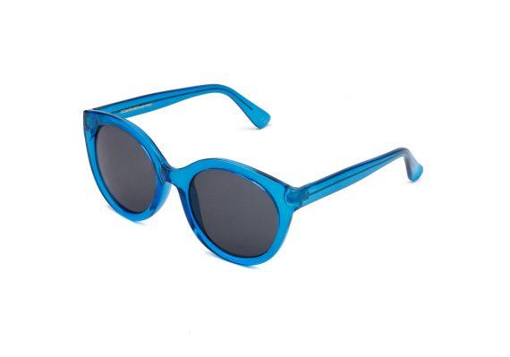 Dames Akjaerbede Butterfly zonnebril blauw transparant met grijze glazen AKsunnies bril
