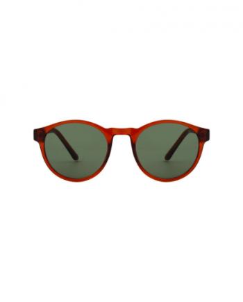 A.Kjaerbede zonnebril model MARVIN bruin transparant met groene glazen AKsunnies bril