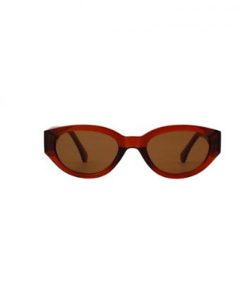 A.Kjaerbede zonnebril model WINNIE bruin met bruine glazen AKsunnies bril sunglasses