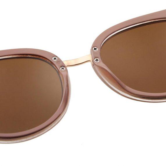 A.Kjaerbede zonnebril model Gray kleurtransparant roze met bronze glazen AKsunnies bril