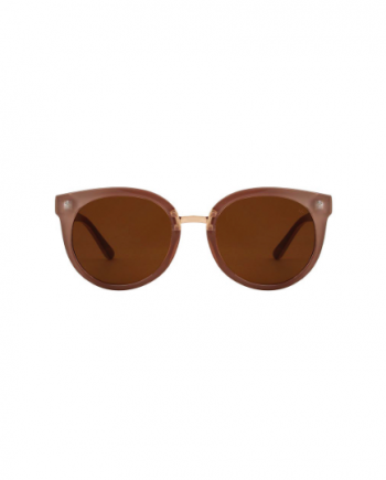A.Kjaerbede zonnebril model Gray kleur oud roze met bronze glazen AKsunnies bril