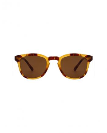 A.Kjaerbede zonnebril model BATE licht bruin tortoise met bronze glazen AKsunnies bril sunglasses