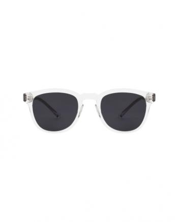 A.Kjaerbede zonnebril model BATE kristal transparant met grijze glazen AKsunnies bril sunglasses