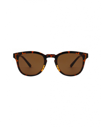 A.Kjaerbede zonnebril model BATE kleur bruin turtoise met groene glazen AKsunnies bril