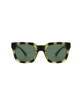 A.Kjaerbede zonnebril model NANCY groen zwart gevlekt met groene glazen AKsunnies bril sunglasses