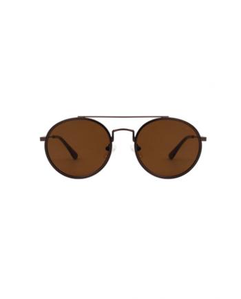 A.Kjaerbede zonnebril model PILOT kleur bruin met bronze glazen AKsunnies bril
