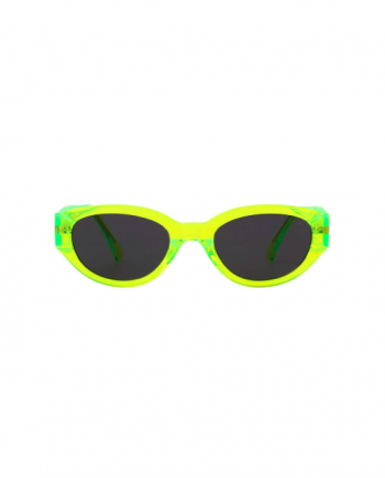 A.Kjaerbede zonnebril model Winnie kleur neon met grijze glazen AKsunnies bril sunglasses Akjaerbede eyewear