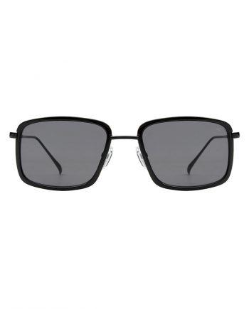 A.Kjaerbede zonnebril model ALDO kleur zwart met grijze glazen AKsunnies bril sunglasses Akjaerbede eyewear